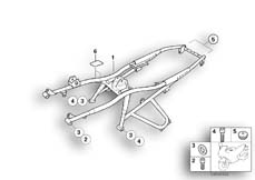 Goto diagram: BMW Classic Motorbike Model R 1150 GS Adv. 01 (0441,0492)( USA ), Category 46.51 Rear frame :: Diagram: 46_0766