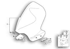 Goto diagram: BMW Classic Motorbike Model R 1150 GS Adv. 01 (0441,0492)( USA ), Category 46.63 Windshield, attachment parts :: Diagram: 46_0772