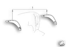 Goto diagram: BMW Classic Motorrad Modell C1 (0191)( ECE ), Category 46.63 Textile wind deflector, lateral :: Diagram: 46_0776