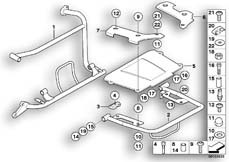 Goto diagram: BMW Classic Motorbike Model R 1150 GS Adv. 01 (0441,0492)( USA ), Category 46.54 CASE HOLDER/MOUNTING PARTS :: Diagram: 46_0777