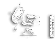 Goto diagram: BMW Classic Motorbike Model R 1150 GS Adv. 01 (0441,0492)( USA ), Category 46.71 Footrests rear for aluminium case :: Diagram: 46_0778