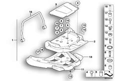 Goto diagram: BMW Classic Motorbike Model R 1150 GS Adv. 01 (0441,0492)( USA ), Category 46.63 Retrofit kit, Top Case bracket :: Diagram: 46_0779