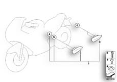 Goto diagram: BMW Classic Motorrad Modell R 1150 R 01 (0429,0439)( USA ), Category 46.54 Luggage fixture :: Diagram: 46_0789