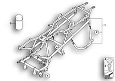 Goto diagram: BMW Classic Motorbike Model R 1200 CL (0442,0496)( USA ), Category 46.51 Rear frame :: Diagram: 46_0792