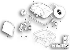 Goto diagram: BMW Classic Motorbike Model R 1200 CL (0442,0496)( USA ), Category 46.63 Cover f top case :: Diagram: 46_0797