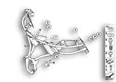 Goto diagram: BMW Classic Motorbike Model R 1200 CL (0442,0496)( USA ), Category 46.63 FAIRING BRACKET :: Diagram: 46_0804