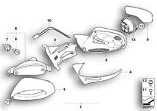 Goto diagram: BMW Classic Motorbike Model R 1200 CL (0442,0496)( USA ), Category 46.63 Mirror :: Diagram: 46_0809