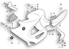 Goto diagram: BMW Classic Motorbike Model K 1200 GT 01 (0548,0558)( USA ), Category 46.63 Fairing side section :: Diagram: 46_0813