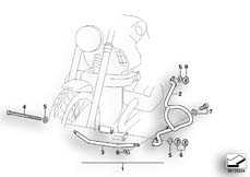 Goto diagram: BMW Classic Motorbike Model R 1200 CL (0442,0496)( USA ), Category 46.70 Front safety bar :: Diagram: 46_0818