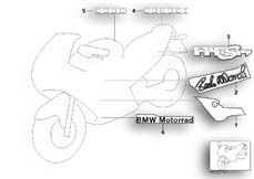 Gehe zu Diagramm: BMW Classic Motorrad Modell R 1100 S 98 (0422,0432)( ECE ), Kategorie 46.75 Aufkleber Boxer Cup Replika 2003 :: Diagramm: 46_0819