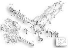 Goto diagram: BMW Classic Motorbike Model R 1200 CL (0442,0496)( USA ), Category 46.51 Engine Suspension :: Diagram: 46_0822