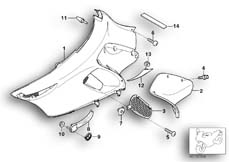 Goto diagram: BMW Classic Motorbike Model K 1200 LT 04 (0549,0559)( ECE ), Category 46.63 Fairing side section :: Diagram: 46_0832