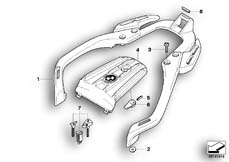 Goto diagram: BMW Classic Motorbike Model G 650 GS 09 (0178,0179)( ECE ), Category 46.63 Handle with luggage support :: Diagram: 46_0847