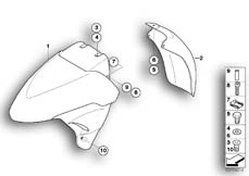 Goto diagram: BMW Classic Motorbike Model K 1200 LT 04 (0549,0559)( ECE ), Category 46.61 Front-wheel cover :: Diagram: 46_0852