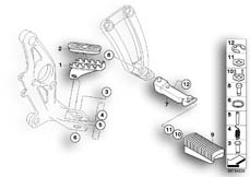 Goto diagram: BMW Classic Motorbike Model R 1200 GS 04 (0307,0317)( ECE ), Category 46.71 FRONT AND REAR FOOTPEG :: Diagram: 46_0854