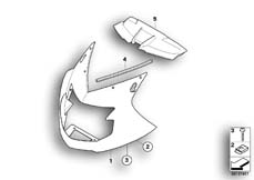 Goto diagram: BMW Classic Motorbike Model K 1200 S (0581,0591)( ECE ), Category 46.63 Trim panel, upper part :: Diagram: 46_0881