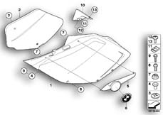 Goto diagram: BMW Classic Motorbike Model K 1200 S (0581,0591)( ECE ), Category 46.63 Fairing side section :: Diagram: 46_0888