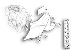 Goto diagram: BMW Classic Motorbike Model K 1200 S (0581,0591)( ECE ), Category 46.63 Cover, tank :: Diagram: 46_0890