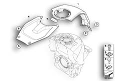 Goto diagram: BMW Classic Motorbike Model K 1200 S (0581,0591)( ECE ), Category 46.63 Cover, tank, middle :: Diagram: 46_0891