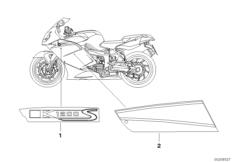 Goto diagram: BMW Classic Motorbike Model K 1200 S (0581,0591)( ECE ), Category 46.75 Stick-on label :: Diagram: 46_0898