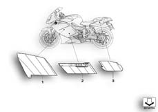 Goto diagram: BMW Classic Motorbike Model K 1200 S (0581,0591)( ECE ), Category 46.75 Stick-on label 969 :: Diagram: 46_0900