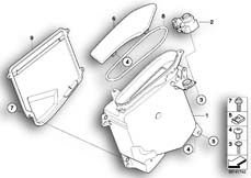 Goto diagram: BMW Classic Motorbike Model R 900 RT 05 SF (0367,0387)( ECE ), Category 46.63 STORING PART./MOULDING RADIO CUT-OUT :: Diagram: 46_0905