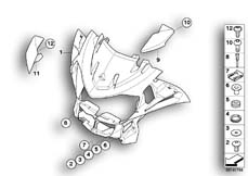 Goto diagram: BMW Classic Motorrad Modell R 900 RT 10 SF (0330,0340)( ECE ), Category 46.63 Trim panel, upper part :: Diagram: 46_0906