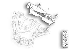 Goto diagram: BMW Classic Motorbike Model R 900 RT 05 SF (0367,0387)( ECE ), Category 46.63 Instrument cover :: Diagram: 46_0907