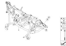 Goto diagram: BMW Classic Motorbike Model R 900 RT 05 SF (0367,0387)( ECE ), Category 46.63 FAIRING BRACKET :: Diagram: 46_0909