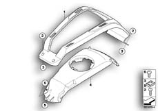 Goto diagram: BMW Classic Motorrad Modell R 900 RT 05 SF (0367,0387)( ECE ), Category 46.63 Cover, tank, middle :: Diagram: 46_0910