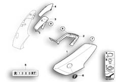 Goto diagram: BMW Classic Motorrad Modell R 900 RT 05 SF (0367,0387)( ECE ), Category 46.63 Fairing side section, front :: Diagram: 46_0913