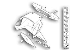 Goto diagram: BMW Classic Motorrad Modell R 900 RT 05 SF (0367,0387)( ECE ), Category 46.62 Number-plate holder / seat lock :: Diagram: 46_0920