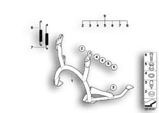 Goto diagram: BMW Classic Motorrad Modell R 900 RT 05 SF (0367,0387)( ECE ), Category 46.52 Centre stand :: Diagram: 46_0929