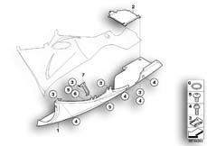 Goto diagram: BMW Classic Motorbike Model K 1200 S (0581,0591)( ECE ), Category 46.63 Engine spoiler :: Diagram: 46_0933
