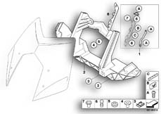 Goto diagram: BMW Classic Motorrad Modell R 1200 ST (0328,0338)( ECE ), Category 46.63 Windshield adjustment, mechanical :: Diagram: 46_0935