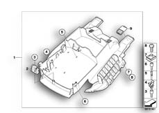 Goto diagram: BMW Classic Motorbike Model K 1200 S (0581,0591)( ECE ), Category 46.63 Rear carrier part :: Diagram: 46_0950