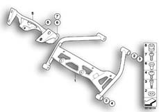 Goto diagram: BMW Classic Motorbike Model K 1200 R (0584,0594)( USA ), Category 46.63 DASHBOARD MOUNTING PARTS :: Diagram: 46_0954