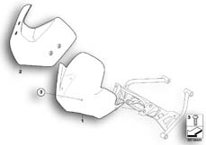 Goto diagram: BMW Classic Motorbike Model K 1200 R (0584,0594)( USA ), Category 46.63 Windscreen :: Diagram: 46_0958