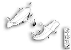 Goto diagram: BMW Classic Motorbike Model K 1200 R (0584,0594)( USA ), Category 46.63 Fairing side section :: Diagram: 46_0964