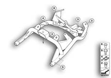 Goto diagram: BMW Classic Motorrad Modell HP2 Enduro (0369,0389)( ECE ), Category 46.51 Rear carrier part :: Diagram: 46_0982