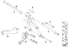Goto diagram: BMW Classic Motorrad Modell R 1200 S (0366,0396)( ECE ), Category 46.51 Frame front section/mounting parts :: Diagram: 46_0993