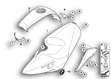 Goto diagram: BMW Classic Motorrad Modell R 1200 S (0366,0396)( ECE ), Category 46.63 Fairing side section / Center part :: Diagram: 46_0998