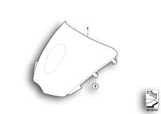 Goto diagram: BMW Classic Motorrad Modell R 1200 S (0366,0396)( ECE ), Category 46.63 Windscreen :: Diagram: 46_1000