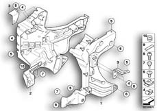 Goto diagram: BMW Classic Motorrad Modell K 1300 GT (0538,0539)( USA ), Category 46.63 Front panel carrier :: Diagram: 46_1015