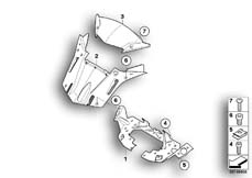Goto diagram: BMW Classic Motorrad Modell K 1300 GT (0538,0539)( USA ), Category 46.63 Windshield, attachment parts :: Diagram: 46_1016