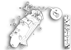 Goto diagram: BMW Classic Motorrad Modell K 1300 GT (0538,0539)( USA ), Category 46.62 Wheel cover, rear, mounting parts :: Diagram: 46_1021