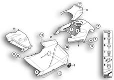 Goto diagram: BMW Classic Motorrad Modell K 1300 GT (0538,0539)( USA ), Category 46.63 Fairing side section / Center part :: Diagram: 46_1023