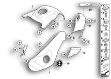 Goto diagram: BMW Classic Motorbike Model R 1200 GS Adve. 10 (0470,0480)( ECE ), Category 46.63 Trim panel parts - mounting parts :: Diagram: 46_1031