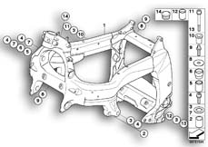 Goto diagram: BMW Classic Motorrad Modell K 1300 GT (0538,0539)( USA ), Category 46.51 Frame front section/mounting parts :: Diagram: 46_1042