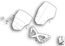 Goto diagram: BMW Classic Motorrad Modell K 1300 GT (0538,0539)( USA ), Category 46.63 Windscreen :: Diagram: 46_1044